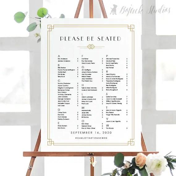 جنين وطني الباطل wedding seating chart poster