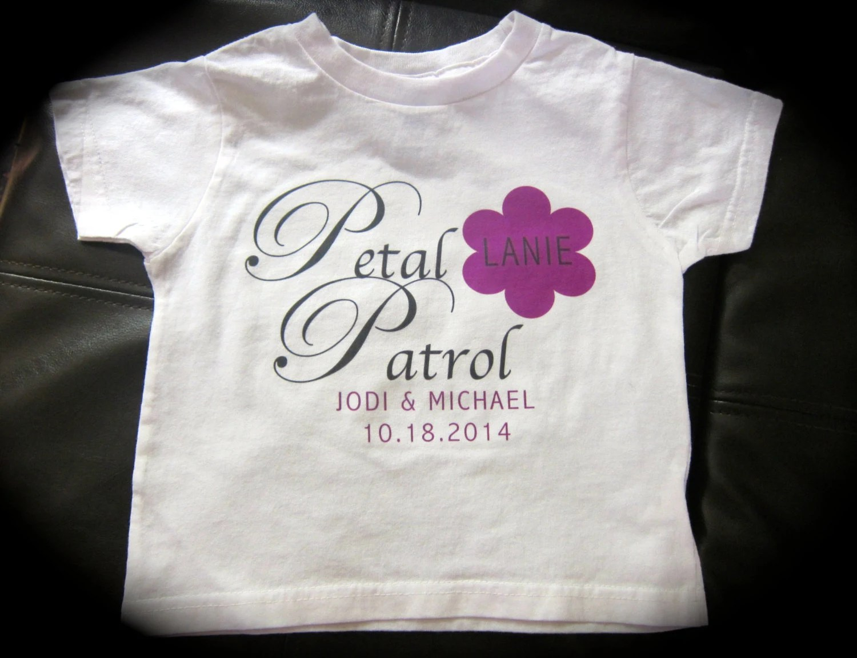 Personalized Petal Patrol Flower Girl T-shirt Or Dress