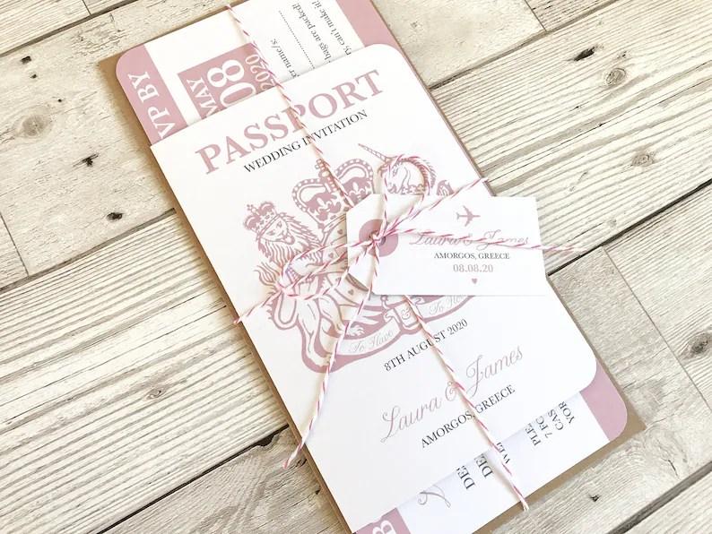 Paspoort uitnodigingen