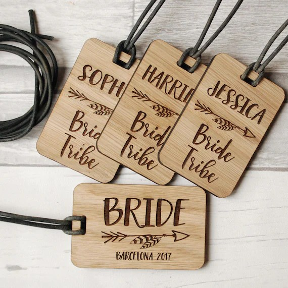 Hen party luggage tags