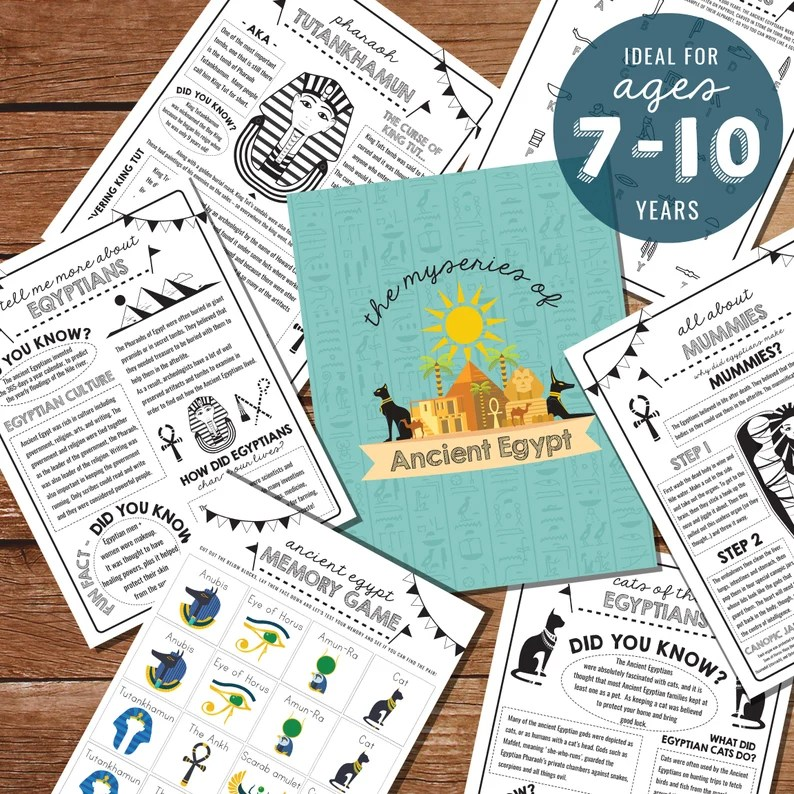 Kids Ancient Egypt Activity Sheets