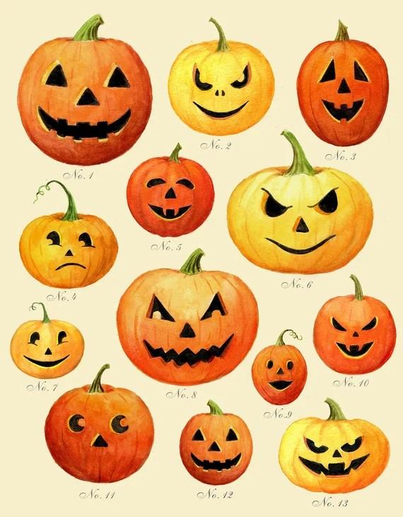 Jack O Lantern Print Halloween Print Pumpkin Print Etsy