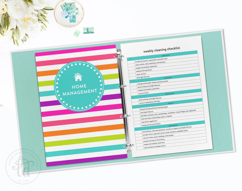 Digital Household Management Binder Kit Home Management