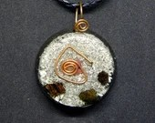 Protection Amulet Ruby & Black Tourmaline  Orgone Jewelry ~516