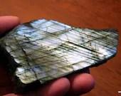 Golden Labradorite Crystals, Polished Labradorite Stone, Blue Labradorite ~1688