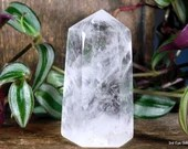 Quartz Crystal Point, Quartz Point Clear Quartz Crystal Tower ~1992