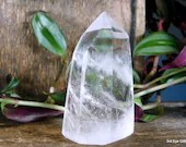 Quartz Crystal Point, Quartz Point Clear Quartz Crystal Tower ~1989