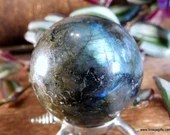 Labradorite Crystal Ball Blue Labradorite Sphere, #1499