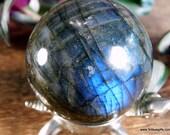 Labradorite Crystal Ball Labradorite Sphere, #1501