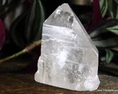 Natural Quartz Crystal Tower with Phantom Quartz Generator, Polished Quartz ~1818