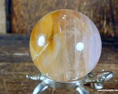 Yellow Fire Quartz Sphere, Hematoid Quartz Crystal ~1828