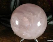 Large Rose Quartz Crystal Ball, Quartz Sphere, Rose Quartz Crystal, Love Crystal ~2014