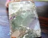 Rainbow Fluorite Crystal Necklace, Fluorite Pendant (538)