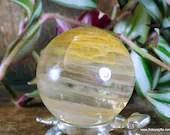 Yellow Fire Quartz Sphere, Hematoid Quartz Crystal ~1829
