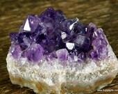 Raw Amethyst, Purple Amethyst, Amethyst Crystal Cluster ~1807