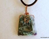 Fluorite Charm Necklace, ...