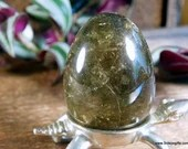 Smoky Quartz Crystal Egg, Black Quartz Crystal ~1766