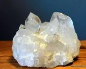 Clear Quartz Crystal Cluster ~876
