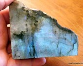 Blue Labradorite Slab, Reiki Crystals Polished Labradorite ~1672