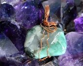 Natural Raw Emerald Pendant ~896