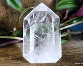 Quartz Crystal Point, Quartz Point Clear Quartz Crystal Tower ~1988