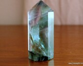 Green Fluorite Crystal Point ~1528