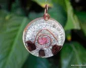 Ruby Orgone Pendant, Protection Amulet, Ruby Jewelry ~479
