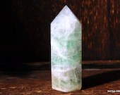 Rainbow Fluorite Crystal Tower, Green Fluorite Crystal Point, Mini Crystal for Altar and Grids ~2055