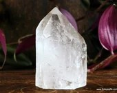 Clear Quartz Tower Lemurian Quartz Reiki Wand, Raw Quartz ~1704