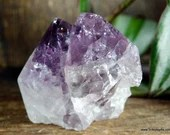 Twin Point Amethyst Point Crystal Tower, Stress Relief Crystal, Purple Amethyst Crystal~1897