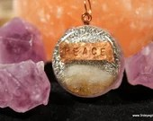 Citrine and Copper Peace Orgone Pendant, Stone for Sacral Chakra ~341