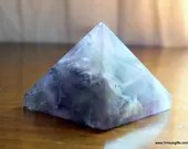 Purple Fluorite Crystal Pyramid ~1166