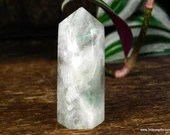 White Fluorite Point, Green Fluorite Crystal Point ~1555