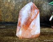 Fire Quartz, Hematoid Quartz, Scarlet Lepidocrocite, Hematite Crystal Tower ~1833