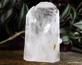 Raw Clear Quartz Crystal Tower Quartz Generator, Quartz Point ~1819