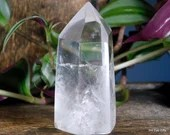 Quartz Crystal Point, Quartz Point Clear Quartz Crystal Tower ~1985
