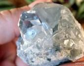 Celestite Cluster Crystal, Celestite Geode, Celestite Crystals, Prophetic Dreams, Ice Blue Meditation Crystal ~2124