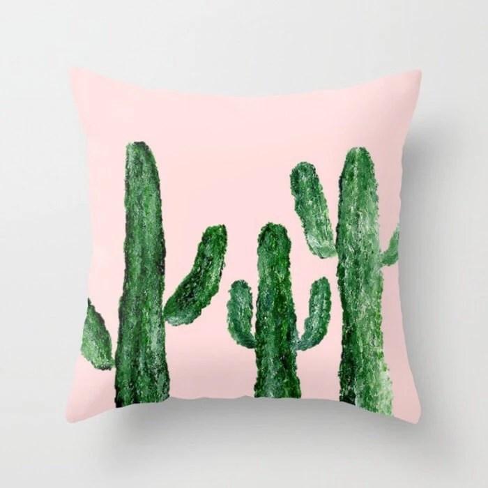 pink cactus pillow online