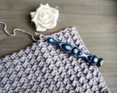 Copperhead Ergonomic Wood Crochet Hook with Wildflowers Wood