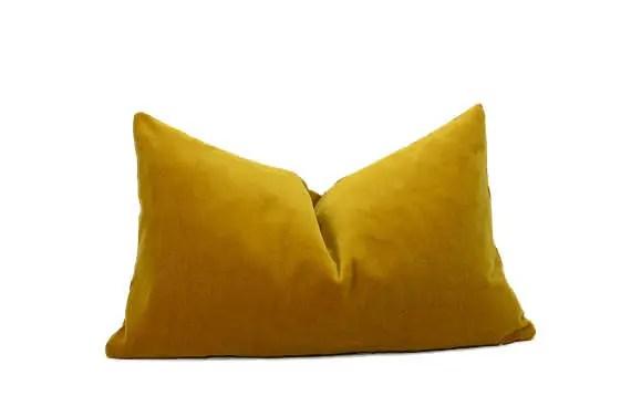 mustard velvet pillow cover dark yellow velvet pillow rectangle velvet pillow mustard velvet cushion