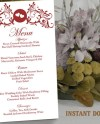 Wedding Menu Template Diy Menu Card Template Editable Text Etsy