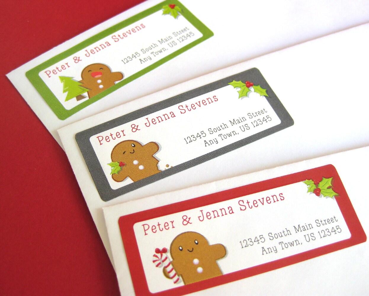 Gingerbread Man Address Labels Gingerbread Return Address