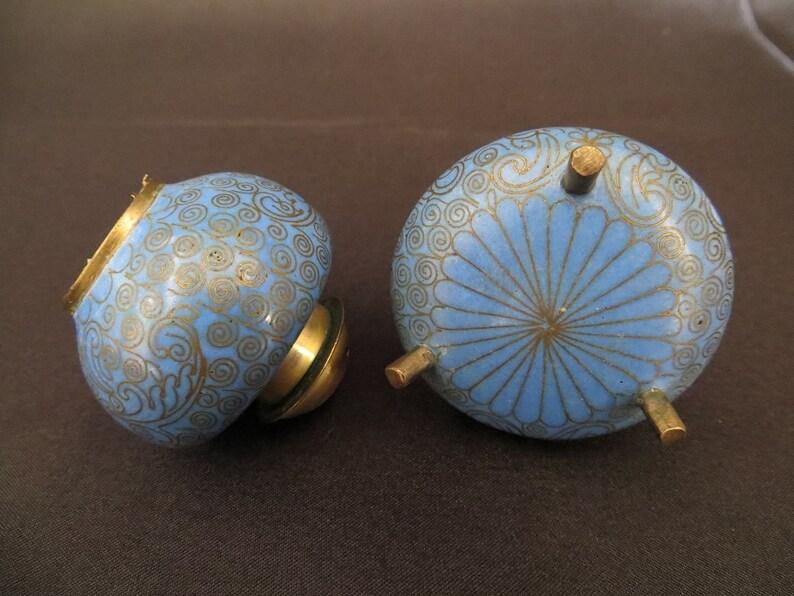 Classic 中文 1950s Vintage SPIRAL Brass Filigree Enamel   Etsy