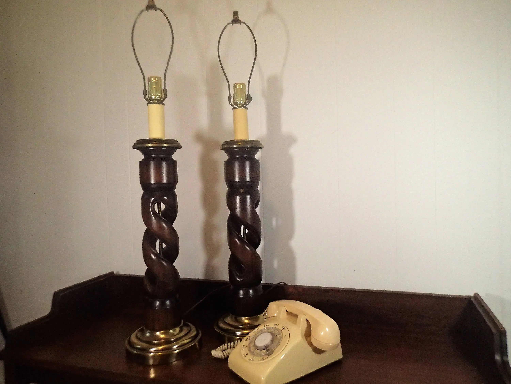 lampes de table helix ou orge ouvert double twist