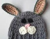 Crochet bunny hat baby to...