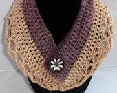 Crochet lacey cowl scarf ...