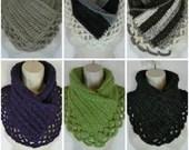Crochet lacey Charma neck warmer scarf pattern PDF instant download present gift craft shows neck warmer MI designer