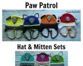 Paw Patrol crochet 7 pc l...