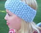 Crochet puff headband wra...