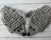 Crochet kids child hedgehog animal mitten pattern PDF Instant download Novelty gift present